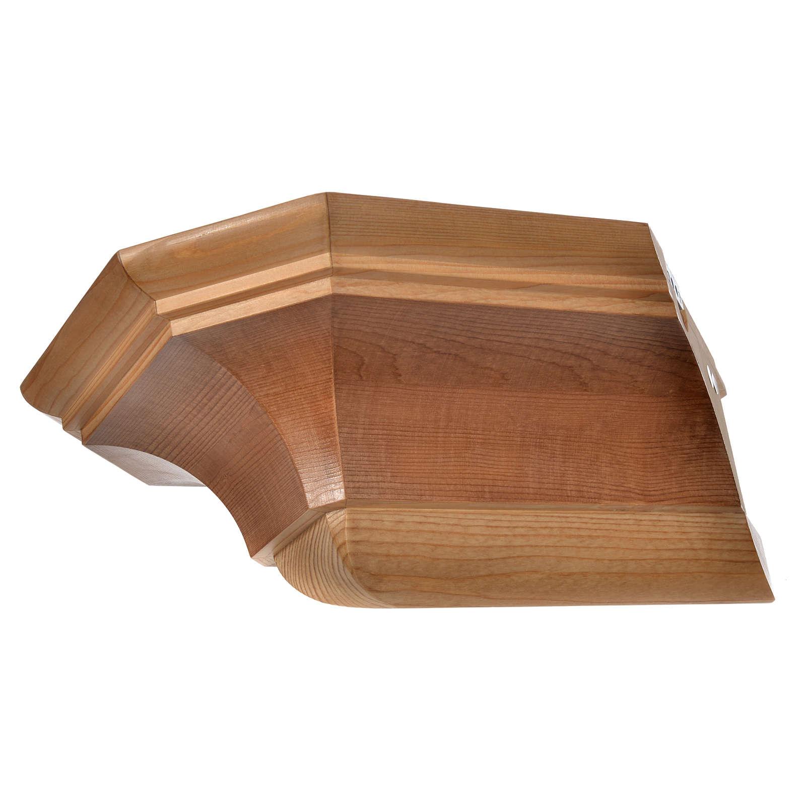 Mensola per angolo legno Valgardena 4