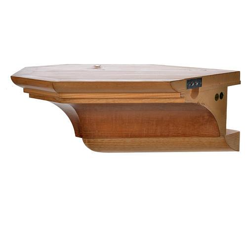 Mensola per angolo legno Valgardena 2