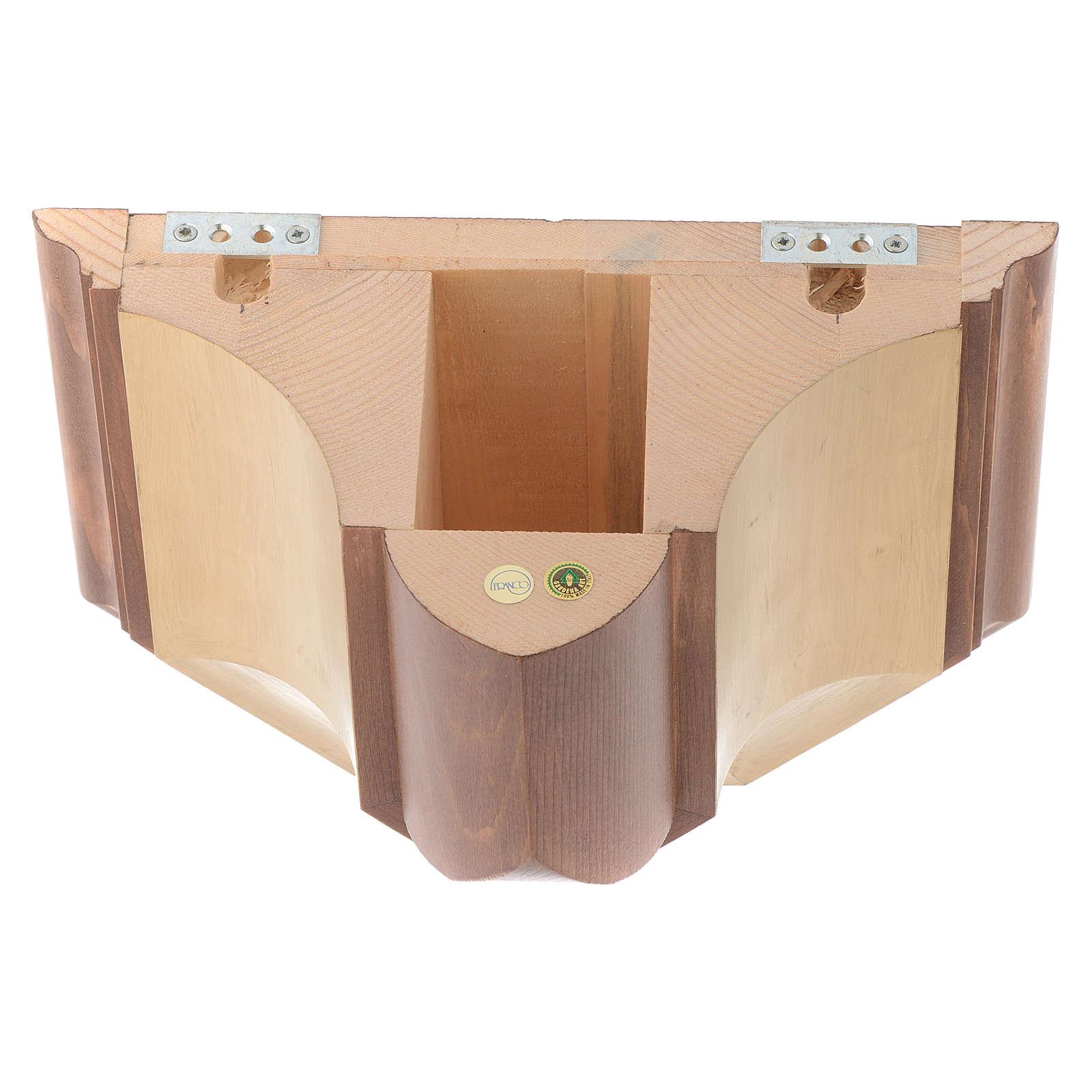 Mensola per parete legno Valgardena 4