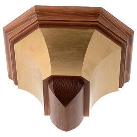 Mensola per parete legno Valgardena s1