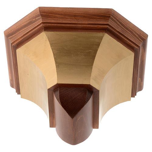 Mensola per parete legno Valgardena 1