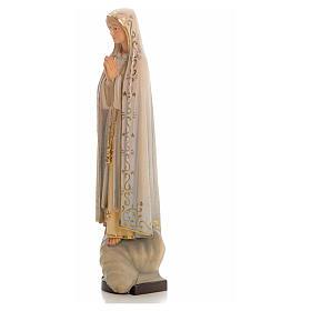 Madonna di Fatima legno dipinto Valgardena s6