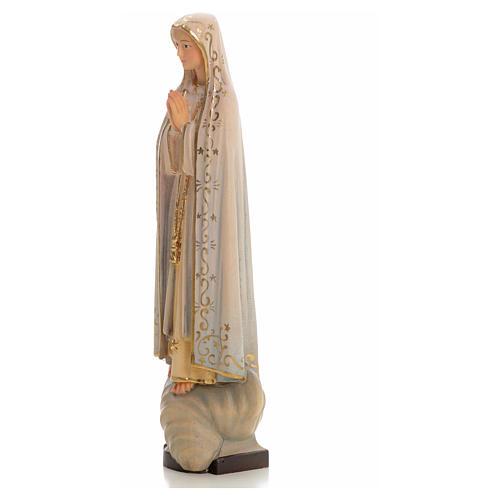 Madonna di Fatima legno dipinto Valgardena 6