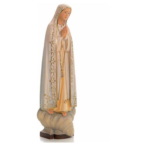 Madonna di Fatima legno dipinto Valgardena 7
