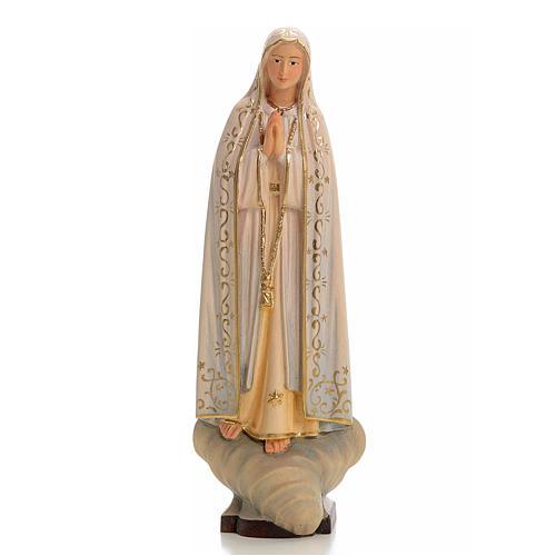 Nossa Senhora de Fátima madeira pintada Val Gardena