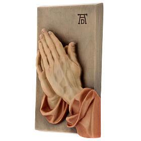 Płaskorzeźba Dłonie Złożone drewno malowane Valgardena s2