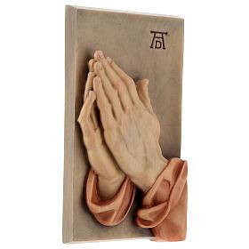 Płaskorzeźba Dłonie Złożone drewno malowane Valgardena s3
