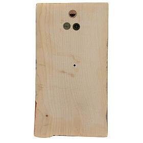 Baixo-relevo Mãos Juntas madeira pintada Val Gardena s4