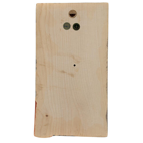 Baixo-relevo Mãos Juntas madeira pintada Val Gardena 4