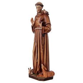 San Francesco d'Assisi legno dipinto Val Gardena s3