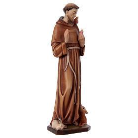 San Francesco d'Assisi legno dipinto Val Gardena s4
