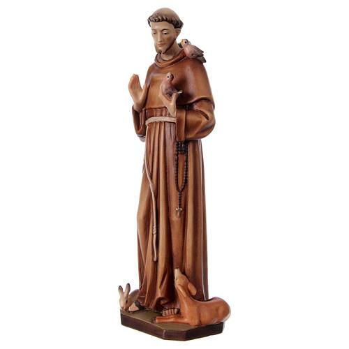 San Francesco d'Assisi legno dipinto Val Gardena 3