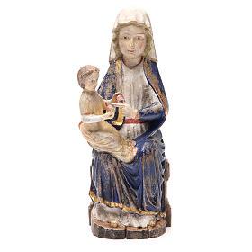 Statues en bois peint: Vierge de Mariazell bois Val Gardena fin. Old Gold