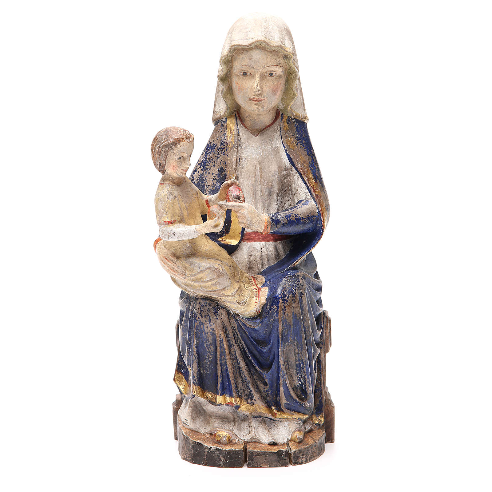 Our Lady of Mariazell in Valgardena wood, old antique gold finis 4