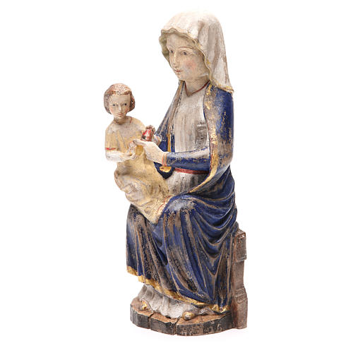 Our Lady of Mariazell in Valgardena wood, old antique gold finis 2
