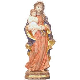 Madonna stile barocco legno Valgardena fin. Old Antico Gold s1