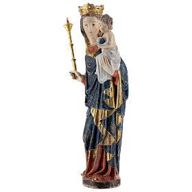 Madonna bimbo scettro 25 cm stile gotico legno Old Antico Gold s3