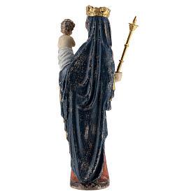 Madonna bimbo scettro 25 cm stile gotico legno Old Antico Gold s5
