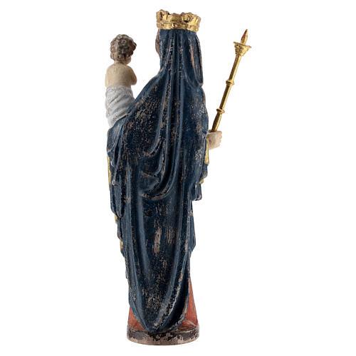 Madonna bimbo scettro 25 cm stile gotico legno Old Antico Gold 5