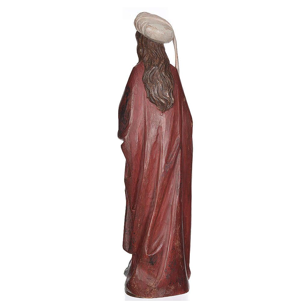 Sainte Barbara avec calice 56 cm bois Valgardena Old Gold 4