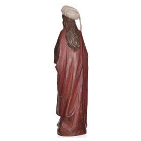 Santa Barbara con calice 56 cm legno Valgardena Antico Gold s10