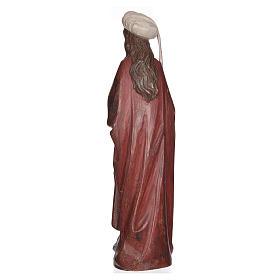 Santa Barbara con calice 56 cm legno Valgardena Antico Gold s4