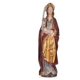 Święta Barbara z kielichem 56 cm drewno Valgardena Antico Gold s7