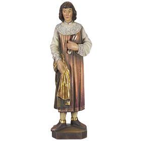 San Cosimo 50 cm legno Valgardena Antico Gold s1