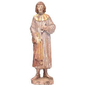 Saint Côme 25 cm bois Valgardena Old Gold vielli s1