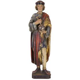 San Damiano con mortaio 50 cm legno Valgardena Antico Gold s1