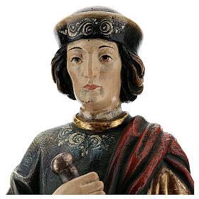 San Damiano con mortaio 50 cm legno Valgardena Antico Gold