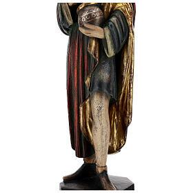 San Damiano con mortaio 50 cm legno Valgardena Antico Gold s7