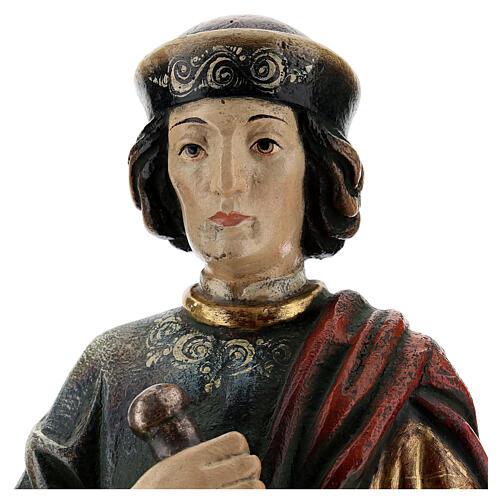 San Damiano con mortaio 50 cm legno Valgardena Antico Gold 2