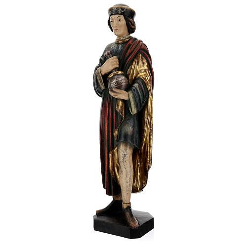 San Damiano con mortaio 50 cm legno Valgardena Antico Gold 5
