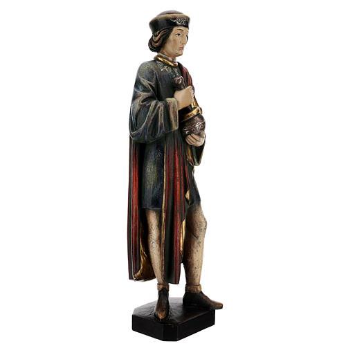 San Damiano con mortaio 50 cm legno Valgardena Antico Gold 8
