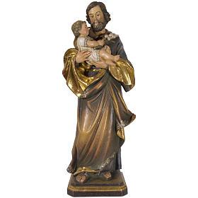 São José de Guido Reni 60 cm madeira Val Gardena Antigo Gold