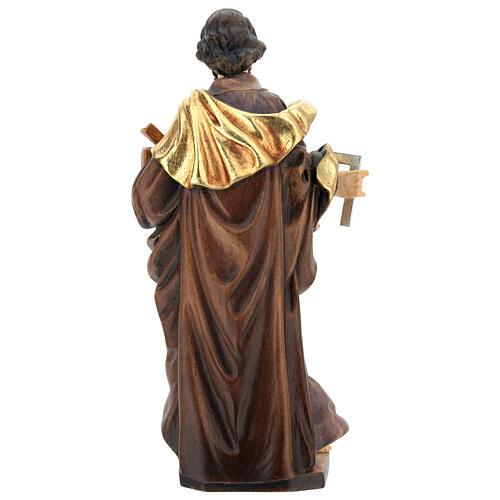 San Giuseppe lavoratore legno Valgardena dipinto 5