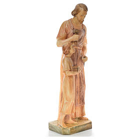 Saint Joseph the carpenter with baby statue in painted wood H110 s4
