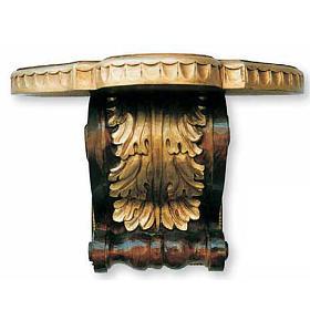 Mensola con capitello 33X45X30 cm legno s1