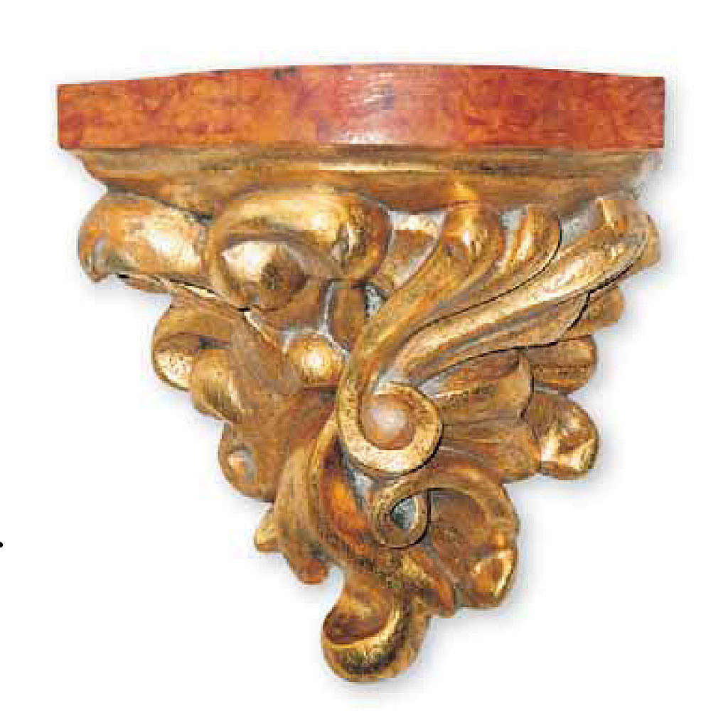 Wall Bracket in wood for statues 21x20x16cm 4