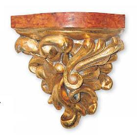 Mensola in legno 21X20X16 cm per statue s1
