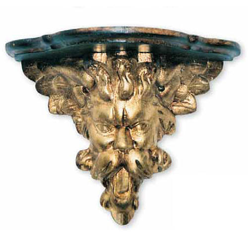 Wall Bracket, baroque style, in wood for statues 30x20x27cm 1