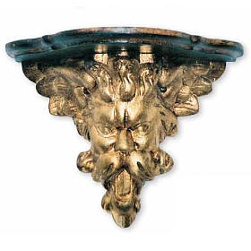 Wall Bracket, baroque style, in wood for statues 30x20x27cm s1