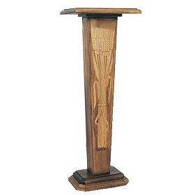 Colonne entaillée pour statue 110x50x40 cm en bois s1