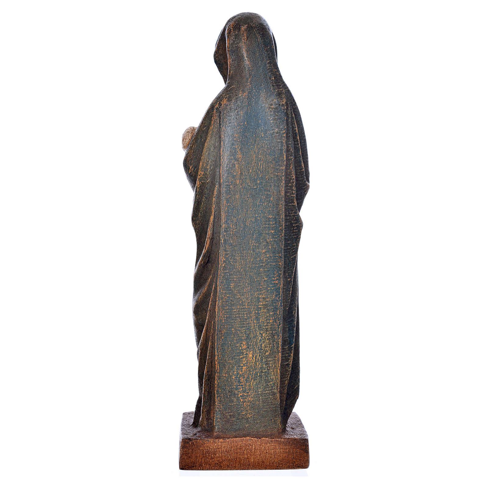 Vergine d'Autun con bambino 15 cm legno Bethléem 4