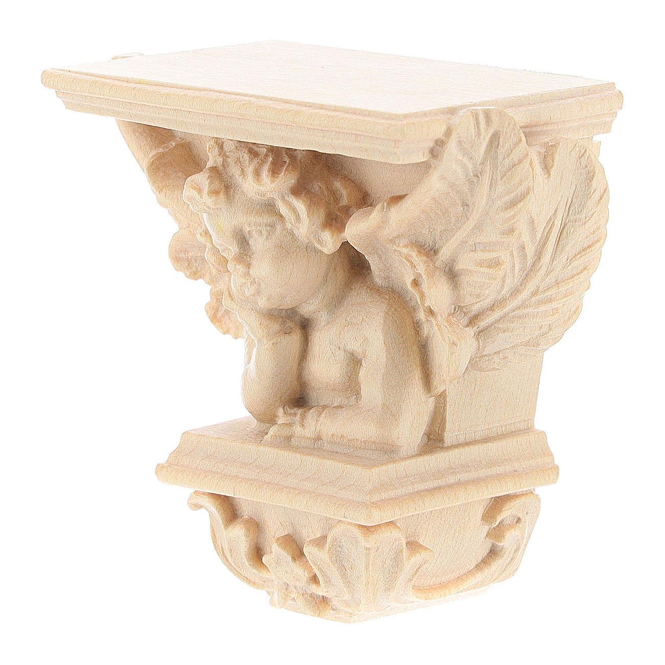 Wall shelf for statues, Raffaello model, natural wax 4