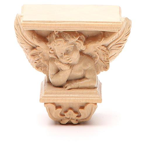 Wall shelf for statues, Raffaello model, natural wax 1