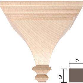Mensola per statue 8x8 legno Valgardena naturale cerato s1