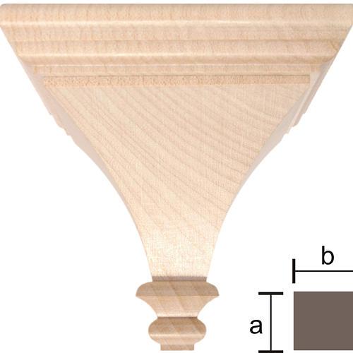 Mensola per statue 8x8 legno Valgardena naturale cerato 1