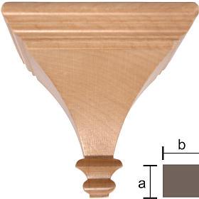 Imágenes de Madera Pintada: Ménsula para imágenes 8x8cm de madera Valgardena patinada